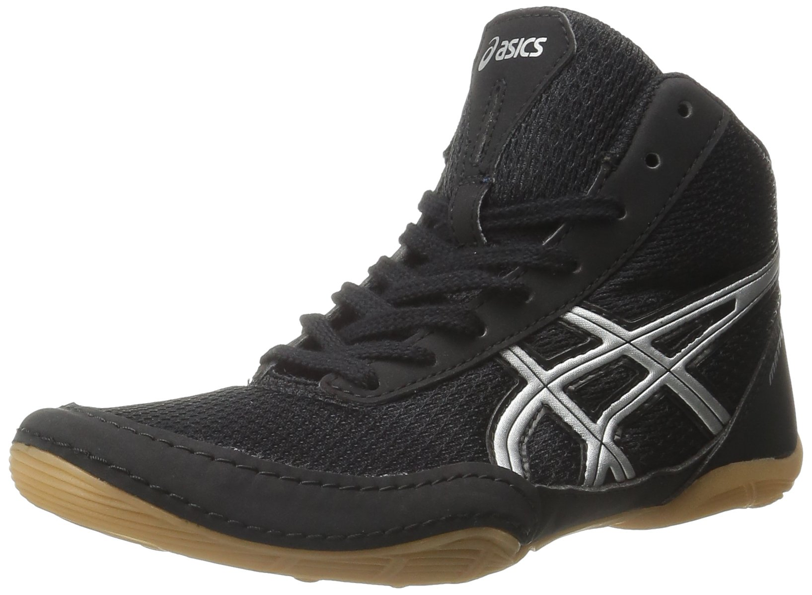 ASICS Matflex 5 GS Wrestling Shoe (Little Kid/Big Kid), Black/Silver, 2.5 M US Little Kid by ASICS