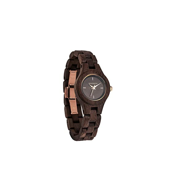 Madera Reloj mujer   Viola   Relojes de madera natural   la Wood Watch Relojes de madera oficial: Amazon.es: Relojes