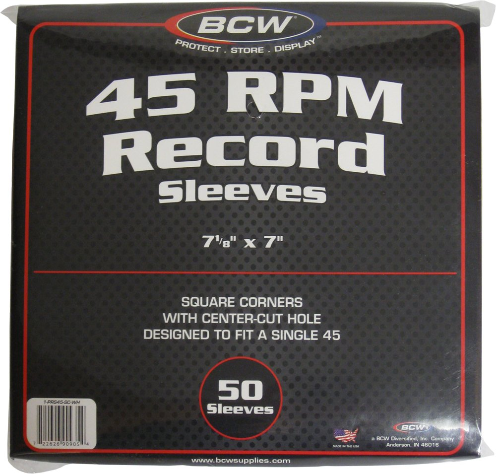 BCW (50) Brand Record White Paper Inner Sleeves BCW Diversified 1-PRS45-SC-WH