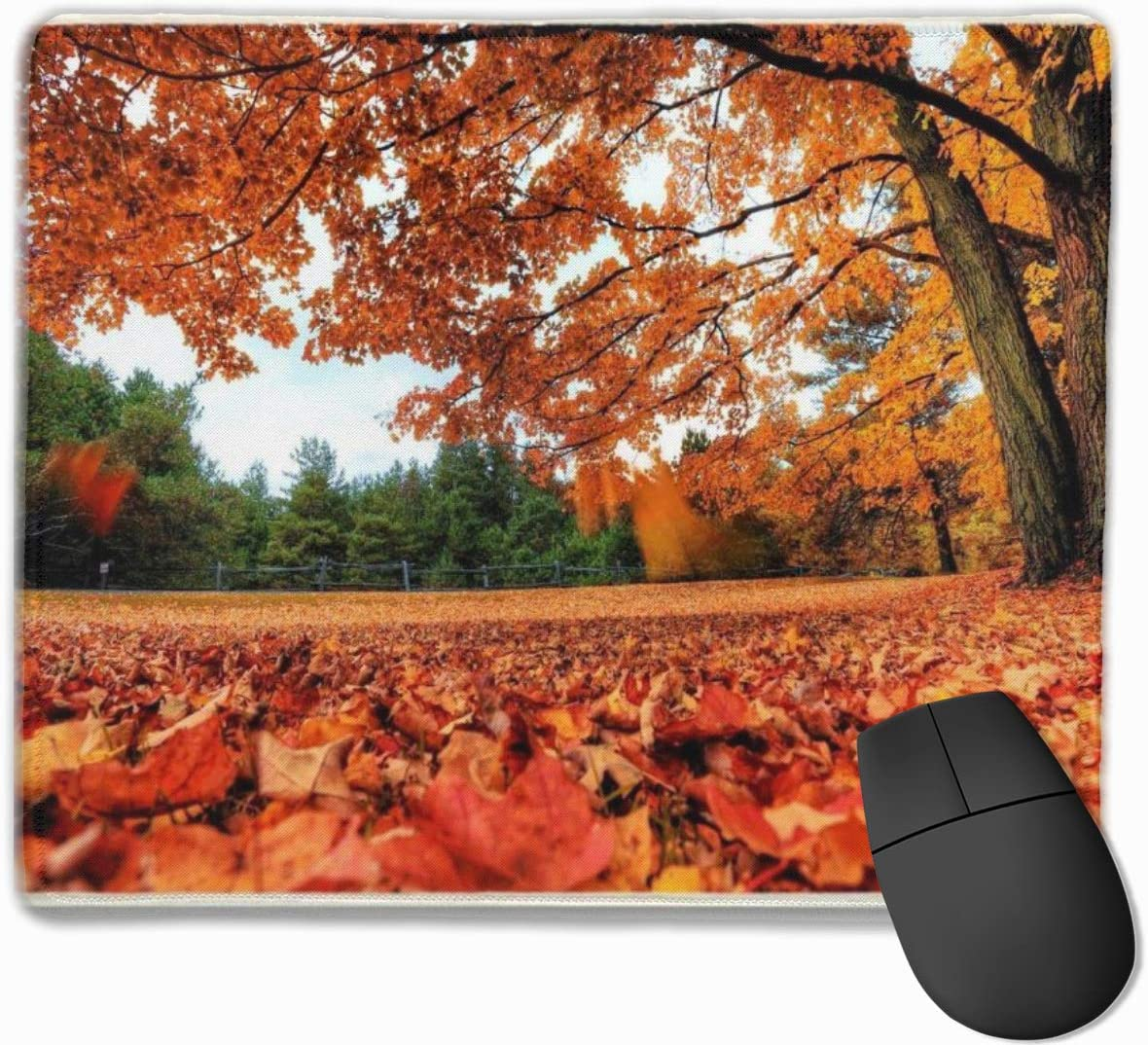 Gaming Mouse Pad with Non-Slip Rubber,Cute Mousepad,Custom Mouse Pads for Computer Laptop ,Mouse Mat Maple Leaf Aumtun Fall