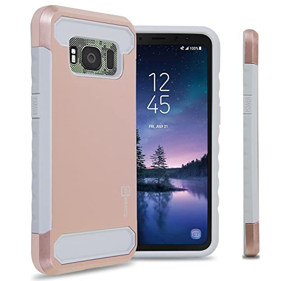 on sale e4975 c3734 CoverON Arc Series Galaxy S8 Active Case, Hybrid Dual Layer Protective  Phone Cover with Carbon Fiber Design Styling for Samsung Galaxy S8 Active -  ...