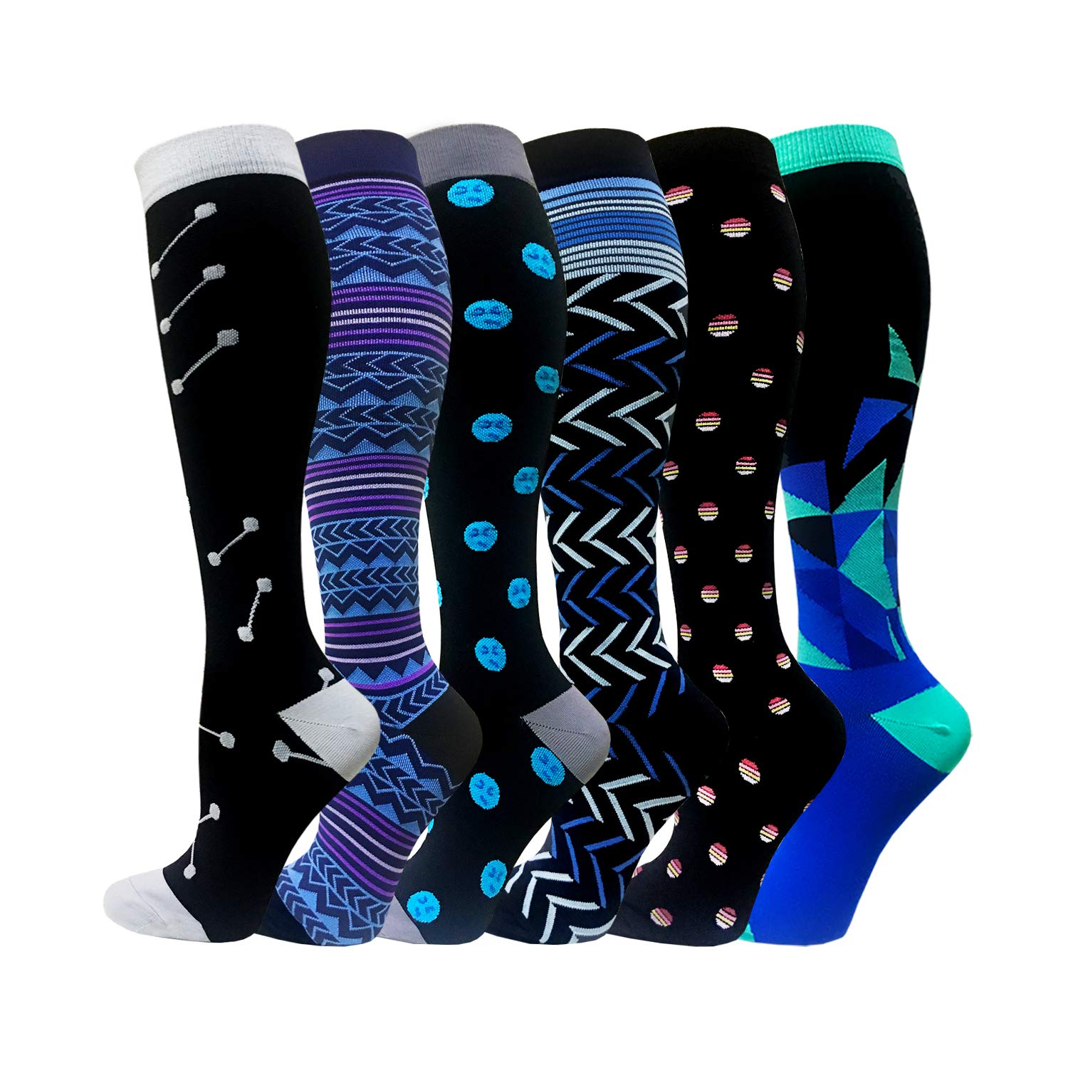 Compression Socks for Women /& Men 15-20mmHg Best Knee High Stockings for Running Nurses Hiking Cycling Recovery