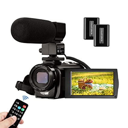 Video Camera Camcorder FHD 1080P 30FPS 24MP YouTube Camera with Microphone  3 0 Inch 270 Degree Rotation 16X Zoom Remote Control Vlogging Digital Video