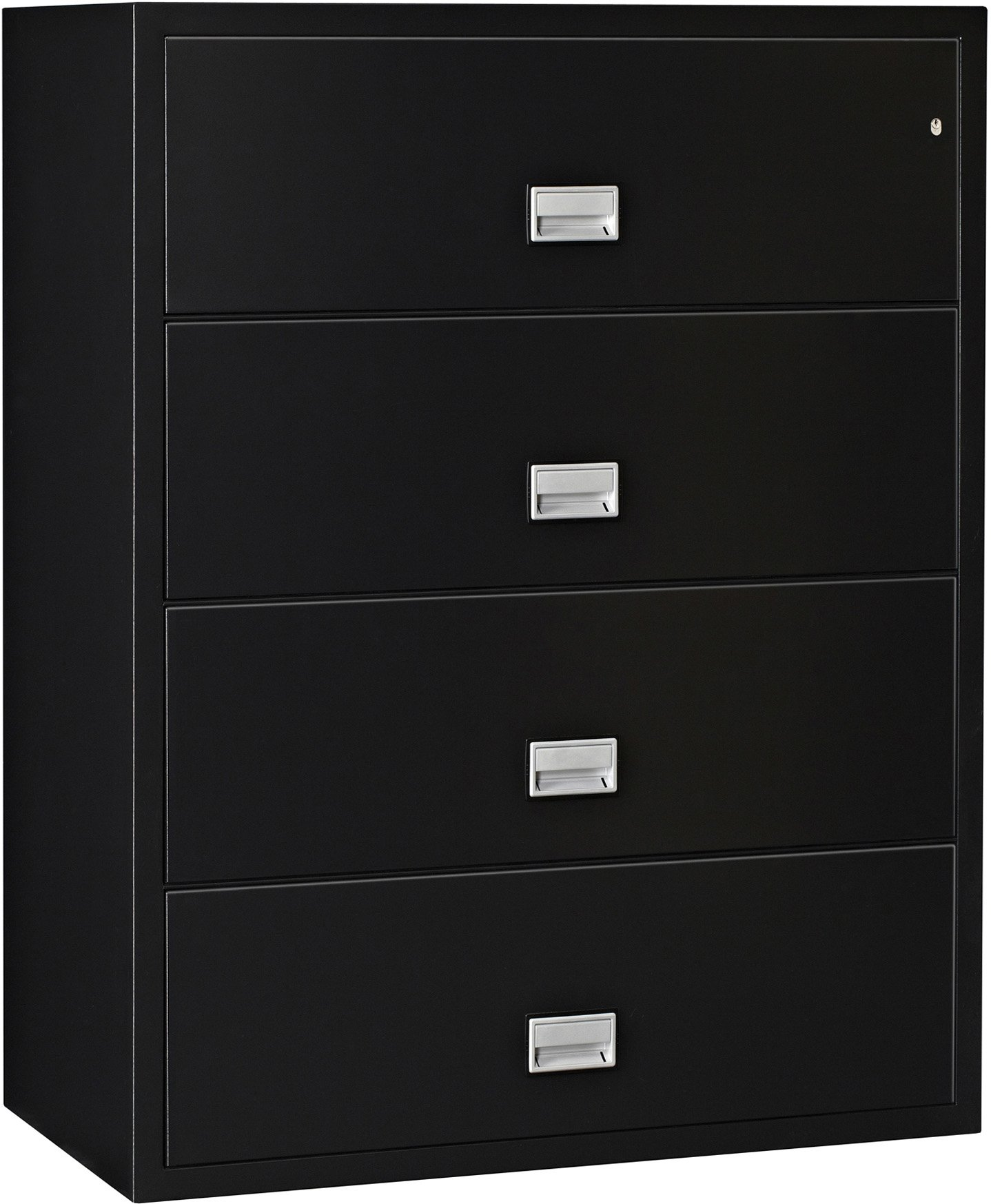 Phoenix Lateral 44 inch 4-Drawer Fireproof File Cabinet with Water Seal - Black by PHOENIX SAFE INTERNATIONAL LLC