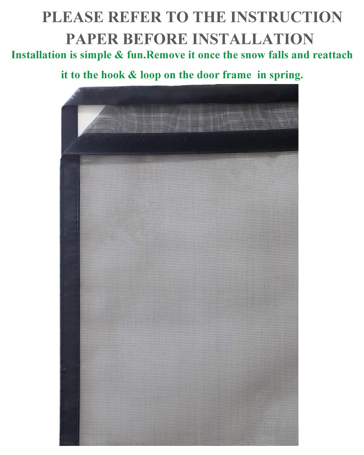 Fiberglass Mesh Magnetic Screen Door 48x83 Instant Mosquito and Flying Insects Bug Out Net Curtain Upgrade Version
