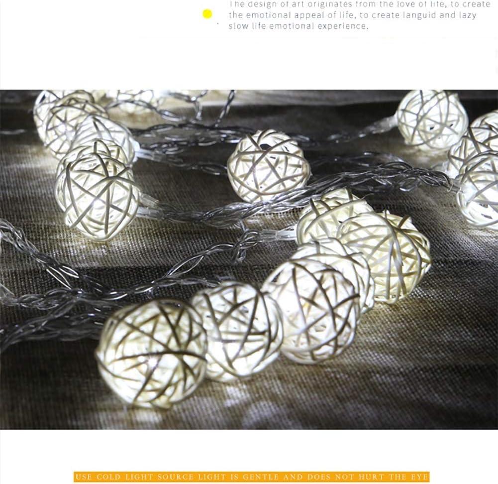 Led String Lights, Outdoor Dekoratives Licht, Weiß, Warmes Weiß, Bunte Festival Lichter, Batterielicht 2.5m / 5m Lichterketten, dieses Produkt enthält keine Batterien (Farbe : Weiß-2.5m) Warm White-2.5m