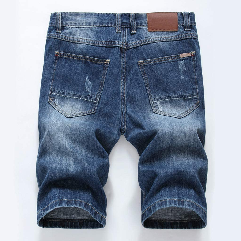 FRAUIT Pantaloncini Uomo Jeans Strappati Taglie Forti Pantaloncini Ragazzo Denim Tasconi Casual Plus Size Oversize Bermuda Cargo Uomini Lavoro Pantaloni Slim Fit Elasticizzati Shorts