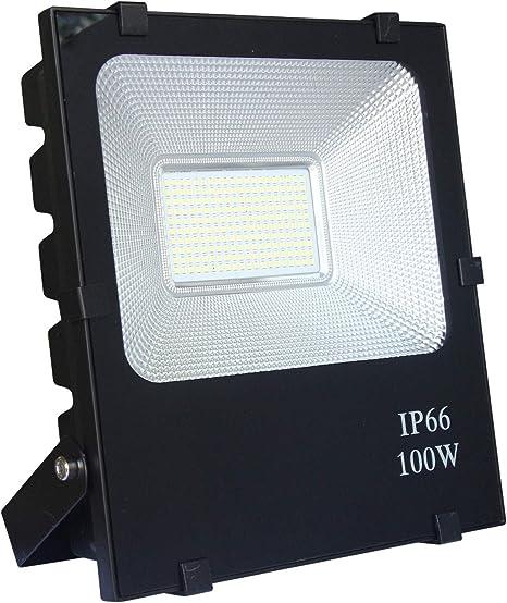 LED Flutlicht Fluter Strahler IP66 Außen Wasserdicht Scheinwerfer 100W Warmweiß
