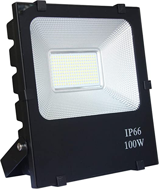 HENGMEI Foco proyector LED 100W Blanco frio reflector Impermeable ...