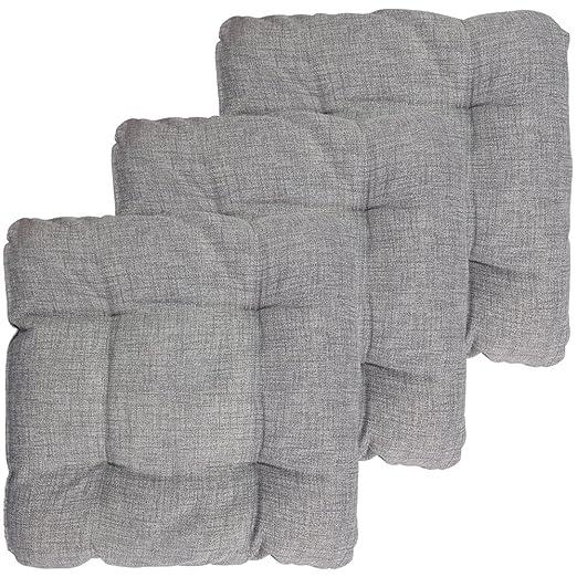 PROHEIM Set x3 Cojines para sillas Outdoor 40 x 40 x 8 cm ...