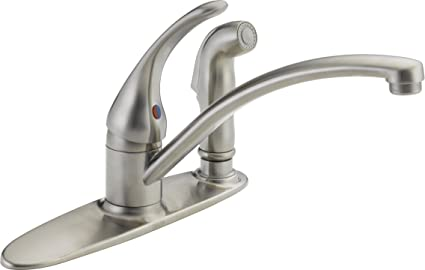 Fantastic Delta Faucet B3310Lf Ss Foundations Core B Single Handle Kitchen Faucet With Integrated Spray Stainless Home Interior And Landscaping Palasignezvosmurscom