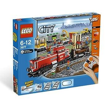 Con Pista Rojo Carga Lego De City Tren 43ALRj5