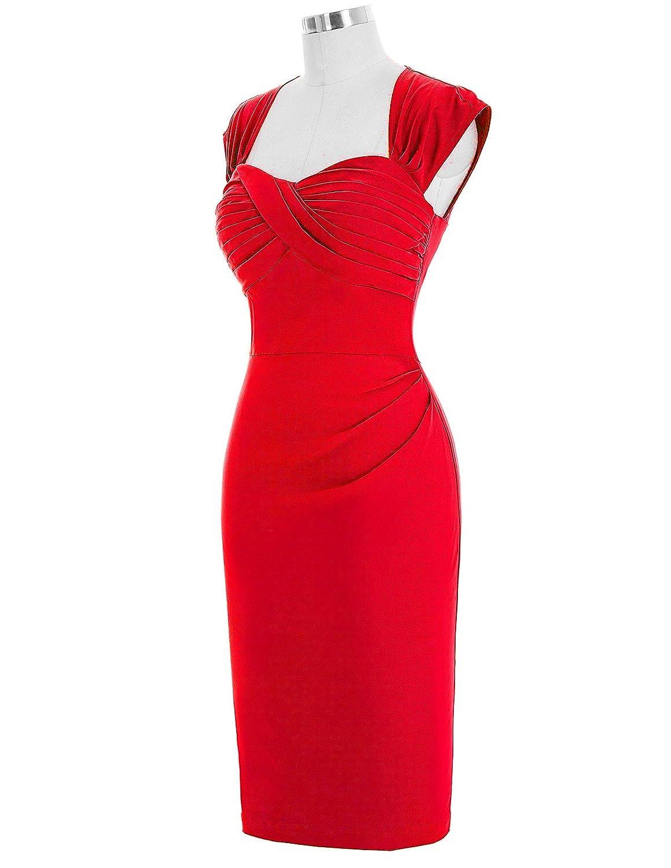 Halter 1950s Retro Vintage Dresses for Womens Party Bodycon Size 16 BP155-1: Amazon.co.uk: Clothing