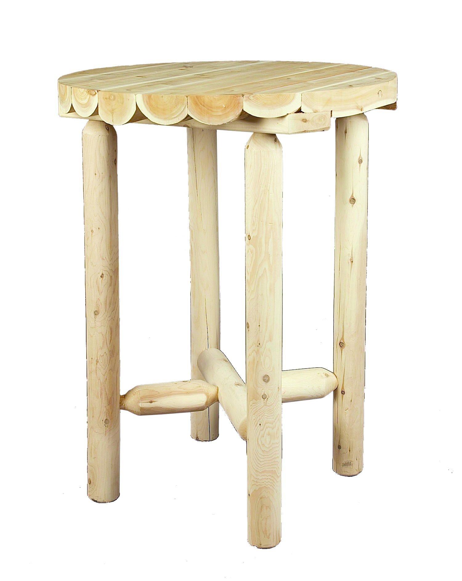 Cedarlooks 110009B Log Pub Table, 32-Inch