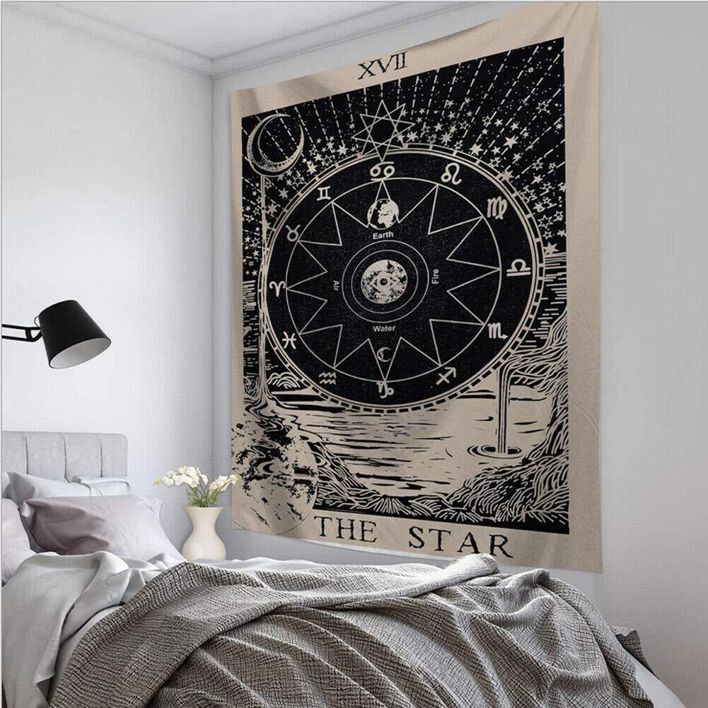 Color : 10 Vioaplem Carte de Tarot Tapisserie Murale Astrologie Hanging Divination Bedspread Beach Mat