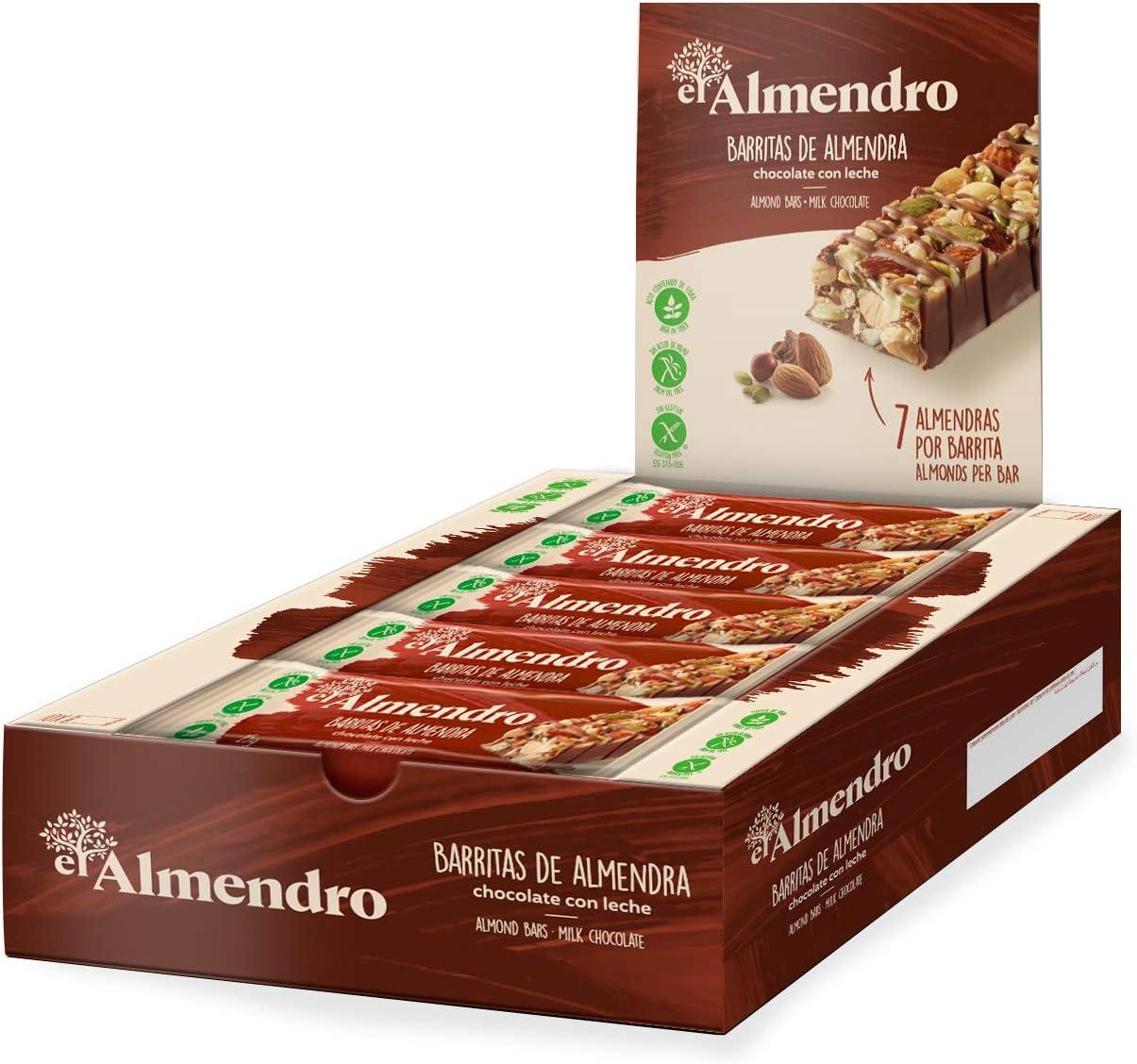 El Almendro - Barritas de Almendra y Chocolate con Leche -10x25 gr ...