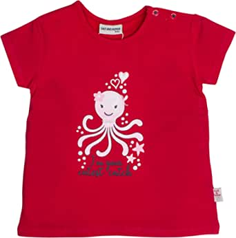 Salt & Pepper Baby Girls' Mit Süßem Krakenmotiv Glitzerdruck T-Shirt