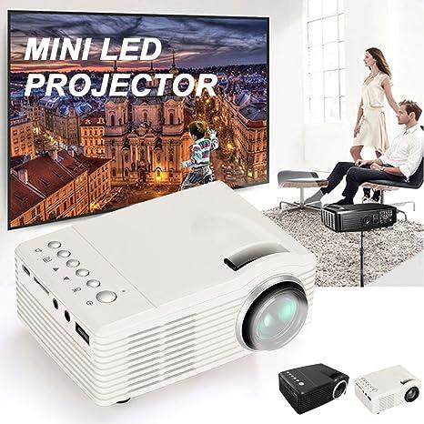 d287c02be5cbbf Amazon.com: Cewaal Hanbaili Mini Portable Video Projector, (EU Plug)  Multimedia Home Theater Video Projector for Children Best Playmate Home  Theater: ...