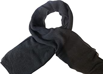 Premium Cotton Hijab Black Crinkle