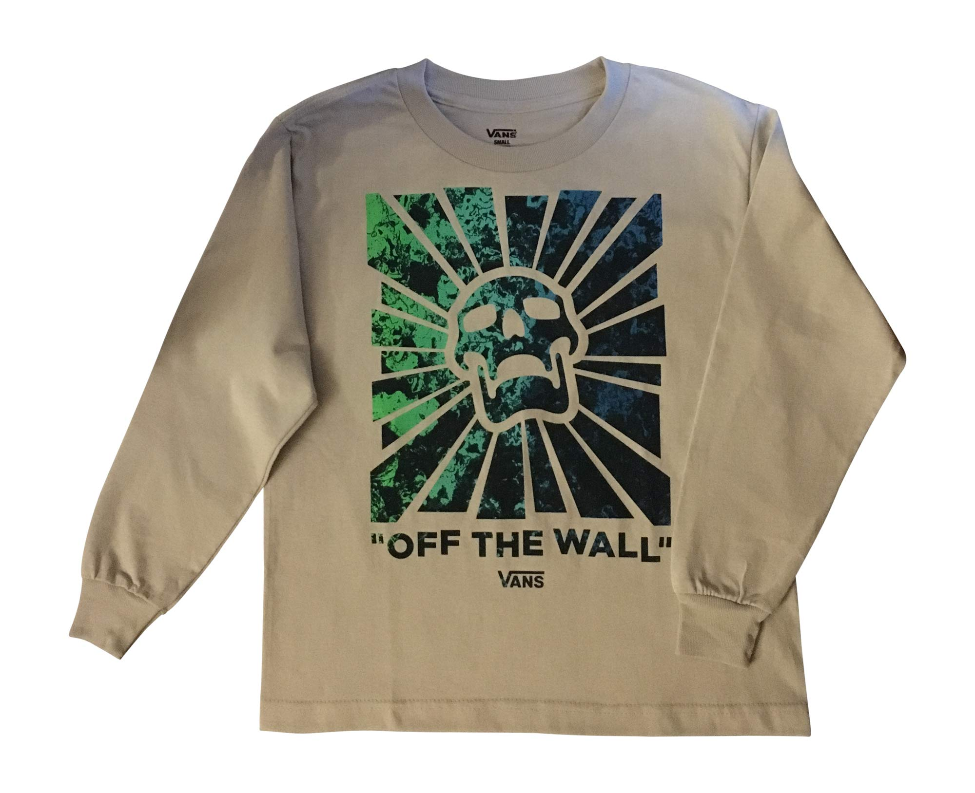 Vans Boys Long-Sleeve Classic Logo T-Shirt Tee (Skulled, Small)