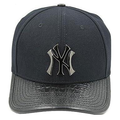 Pro Standard NY Yankees Logo Strapback Hat at Amazon Men s Clothing ... 761877e28de