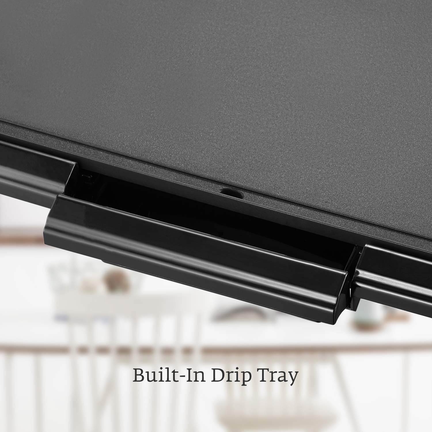 Kealive Griddle, Family-Sized Electric Grill Griddle 1500W with Drip Tray, Non-stick, 10''x20'', Black by Kealive (Image #5)