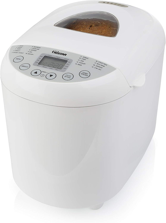 Panificadora TRISTAR, 1 litro, 19 programas, 550 watios