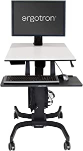 Ergotron - WorkFit-C HD Sit-Stand Workstation - for Mobile Computing - Black and Grey