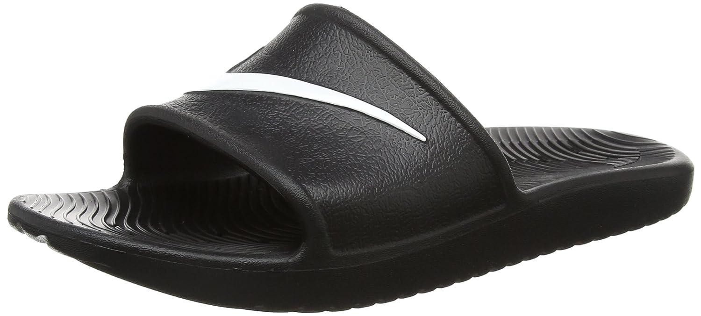 NIKE Men's Kawa Shower Slide Sandals B01N78JSS0 14 D(M) US|Black White