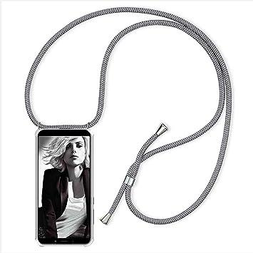 YuhooTech Funda con Cuerda para Xiaomi Mi 9 SE, Anti-rasgu/ños Suave Silicona Transparente TPU Carcasa de movil con Colgante//Cadena Moda y Practico Anti-Choque