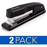 Swingline Staplers, Commercial Desk Staplers, 20 Sheet Capacity, Black, 2 Pack (44401AZ)