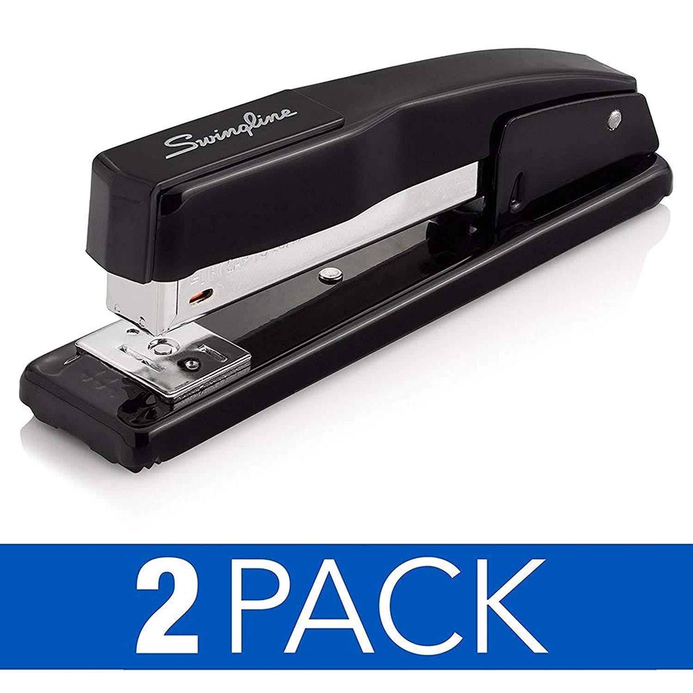44401AZ Commercial Desk Stapler Black 20 Sheet Capacity Swingline Stapler
