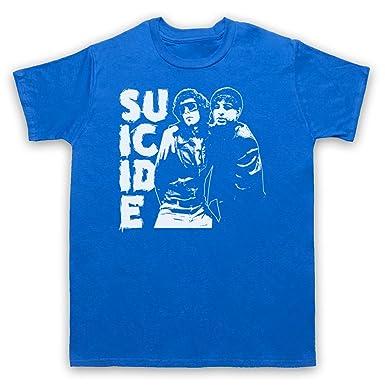 Suicide Musical Duo Band Herren T-Shirt, Blau, Small