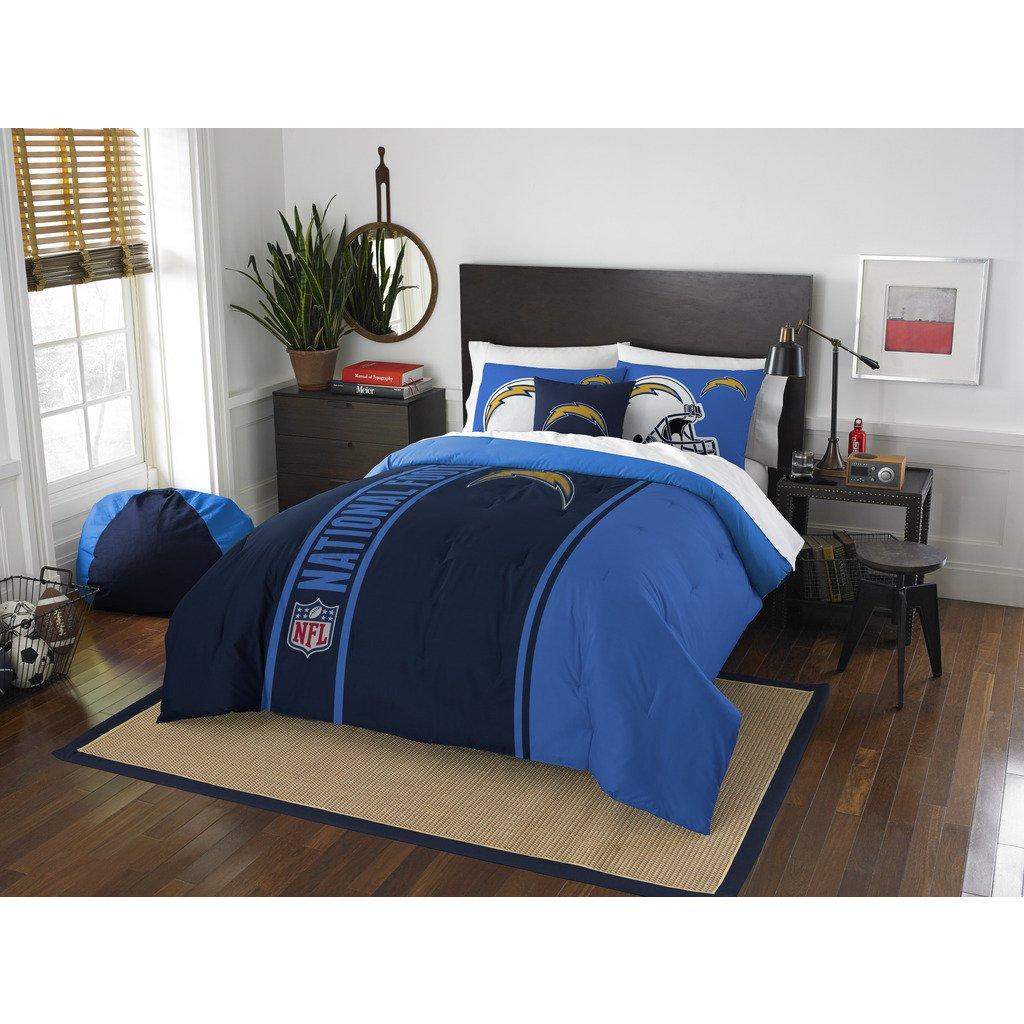 Los Angeles Chargers Comforter Set Bedding Shams NFL 3 Piece Full Size 1 Comforter 2 Shams Football Linen Applique Bedroom Decor Imported Sold byMBG.4u.