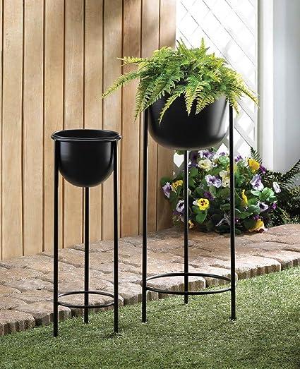 Amazon.com: Macetas para decoración de jardín, maceta de dos ...