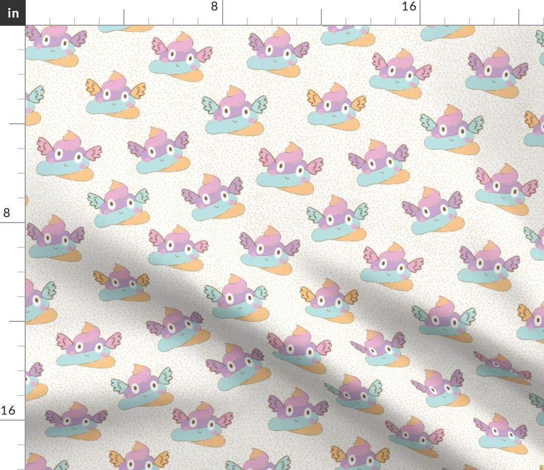 Unicorn rainbow on white 100/% Cotton Printed Fabric,Per meter width 160 cm
