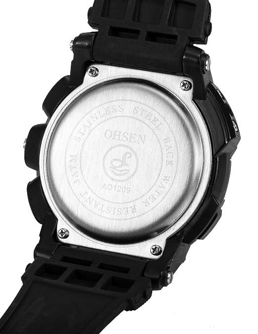EASTPOLE OHS052 - LCD Reloj Digtal Mujer de Cuarzo, Correa de Goma Negra: Amazon.es: Relojes