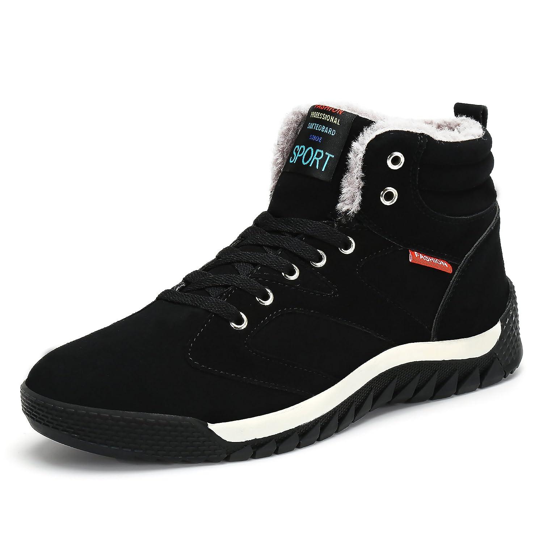 SAGUARO® Hombre Botines Zapatos Botas De Nieve Invierno Cortas Fur Aire Libre Boots: Amazon.es: Zapatos y complementos