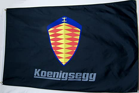 amazon com koenigsegg emblem flag 3 x 5 indoor outdoor banner