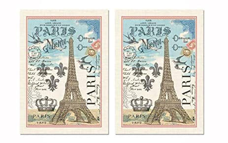 Michel Design Works Kitchen Towel, Paris Design, 100% Cotton Kitchen Towl,  Multicolor