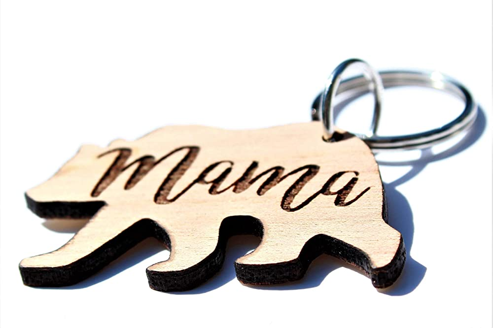 Valentines Day Mama Bear Keychain  Custom Keychain For Mom  Engraved Key Chain  Keychain  Key ChainPersonalized