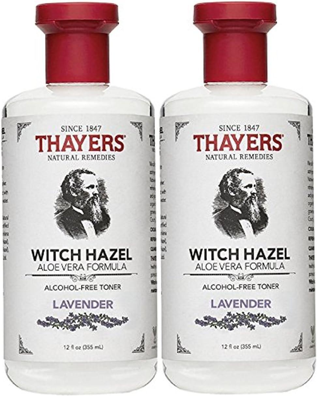 Thayers Alcohol-Free Witch Hazel with Organic Aloe Vera Formula Toner, Lavender 12 oz (Pack of 2)