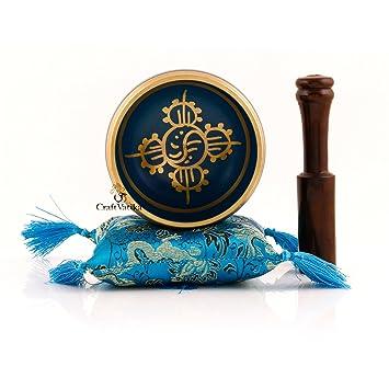 Klangschale Meditation Krone Chakra Set