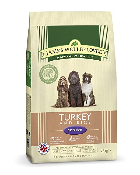 Amazon.com: James Wellbeloved Senior Turquía y arroz pienso ...