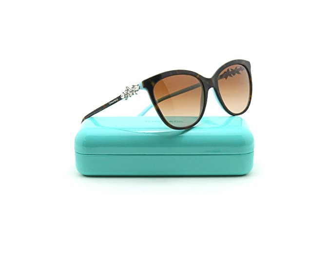 ba46c0f897ff Image Unavailable. Image not available for. Colour: Tiffany & Co. TF  4131-HB Women Butterfly Sunglasses Brown Gradient 81343B