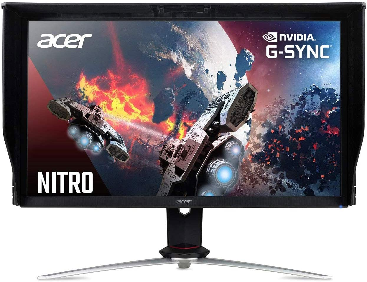 "Acer Nitro XV273K Pbmiipphzx 27"" UHD 3840 x 2160 IPS AMD Radeon FreeSync and NVIDIA G-SYNC Compatible Monitor, DisplayHDR400, Quantum Dot, 144Hz, 1ms, DCI-P3 , Delta E<1, Black"