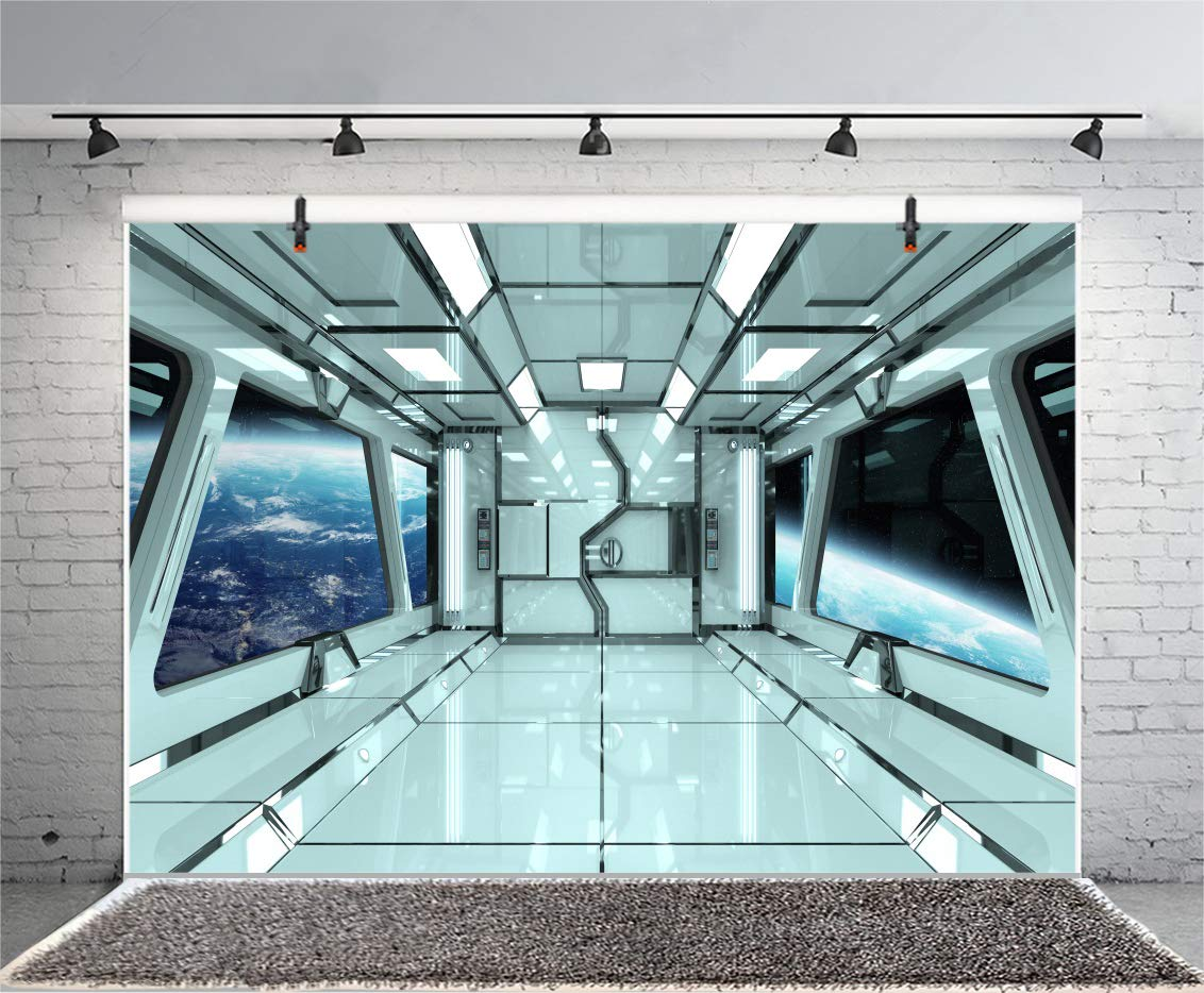 Yeele 9x6ft spaceship backdrop spacecraft space station interior exploring future background for photography universe planet kid boy girl portrait photo