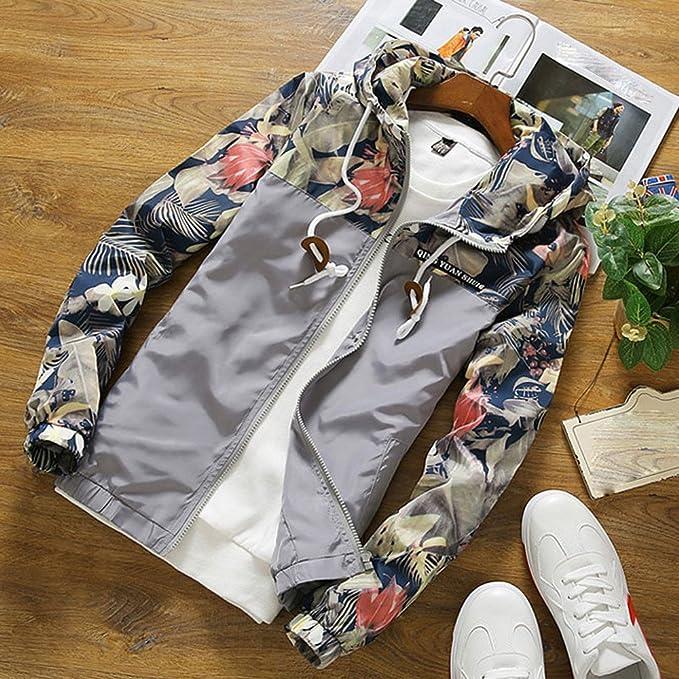 Camisetas Hombre Manga Larga Camisas De Corta Sudaderas con Capucha Slim Collar del Soporte Moda Sudadera Chaqueta Tops Casual Outwear con Cremallera riou: Amazon.es: Ropa y accesorios