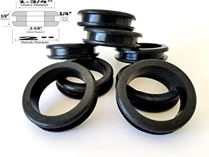 Amazon.com: Lot of 8 Large Rubber Grommets 1.5
