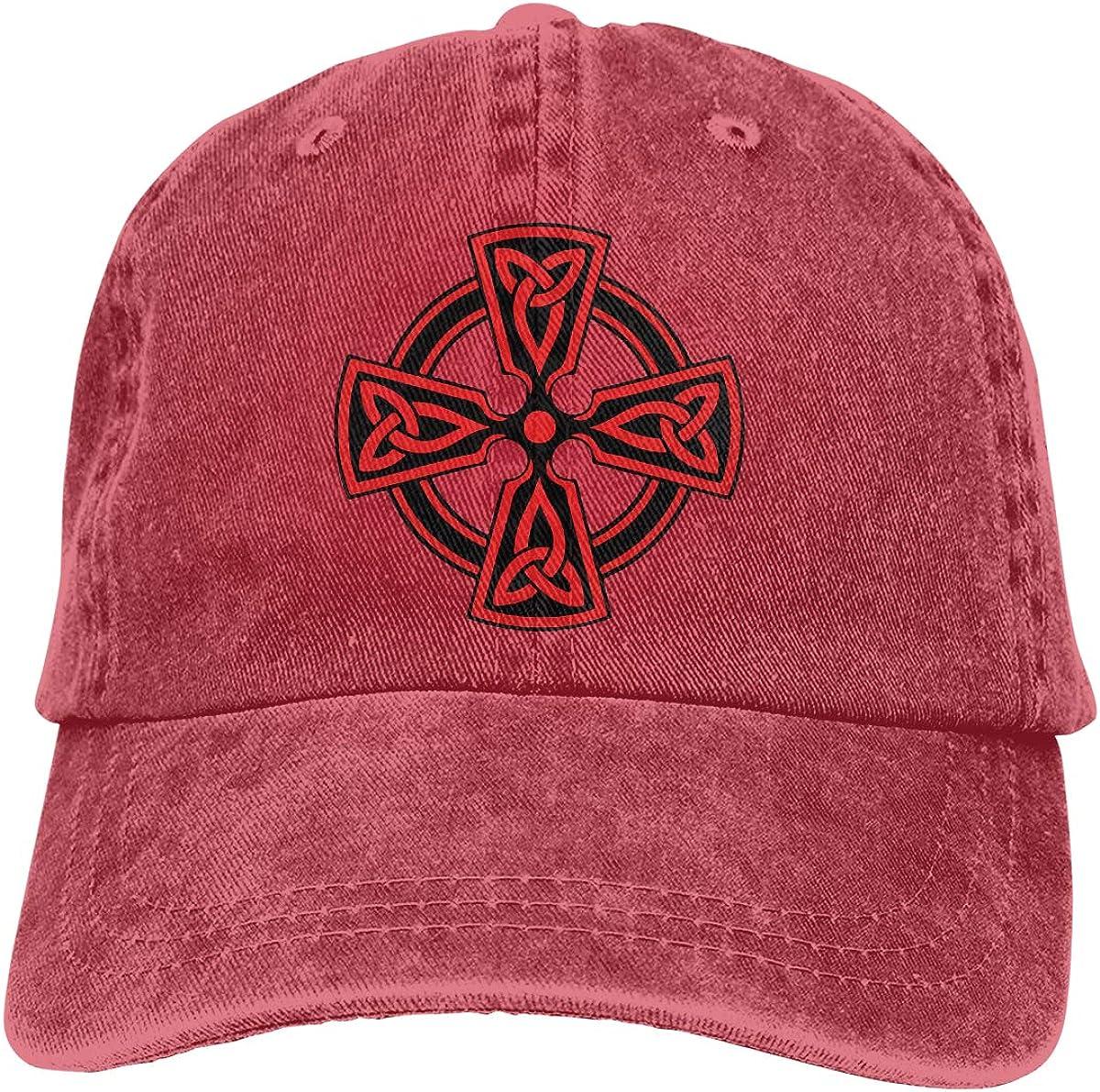 Red Celtic Unisex Trendy Cowboy Hat Casquette Adjustable Baseball Cap